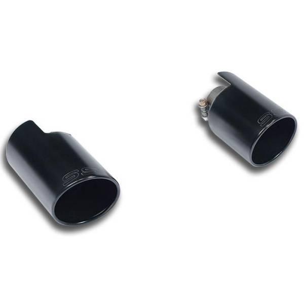 Supersprint Endrohrsatz Rechts O100 - Links O100 Gun Metal Grey passend für VW PASSAT CC 2.0 TSI