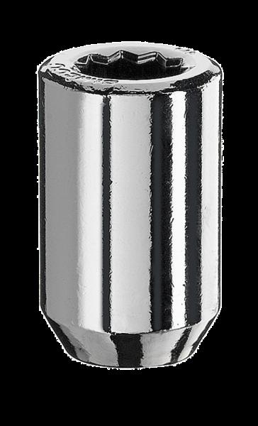 Radmutter Innenvielzahn 1/2 Zoll 37mm silber