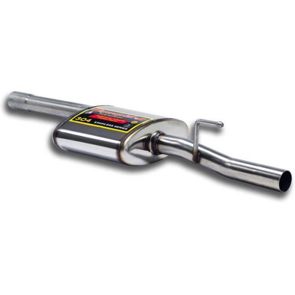 Supersprint Mittelschalldämpfer 100% Edelstahl passend für MERCEDES S210 E 250 TD (150 PS) (S.W.) 9