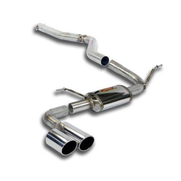 Supersprint Verbindungsrohr + Endschalldämpfer OO80 passend für BMW F36 Gran Coupe 418d (N47 - 143 P